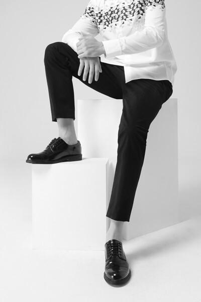 [남성] 면혼방 스트레이트핏 솔리드 팬츠