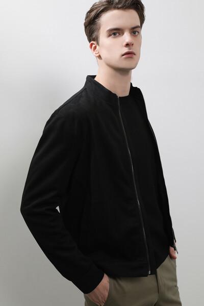남성 스웨이드 레귤러핏 베이직 해링턴 점퍼