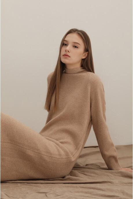 여성 캐시미어혼방 터틀넥 긴소매 스웨터 원피스