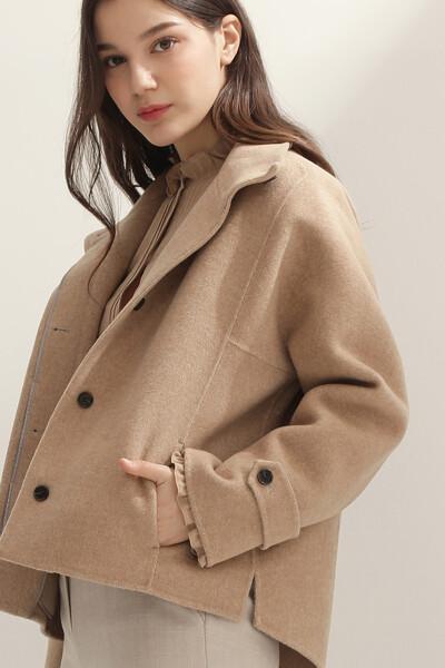 여성 캐시미어혼방 베이직 하프 자켓