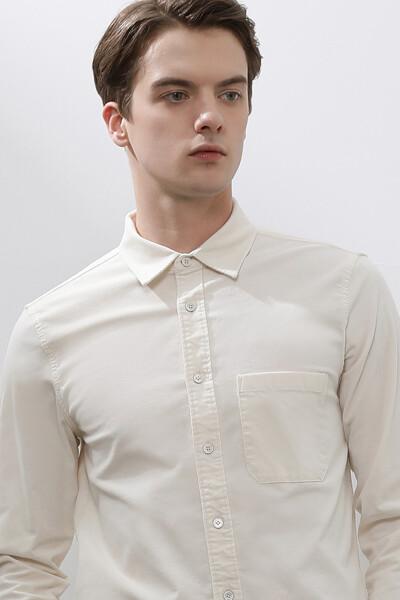 남성 코듀로이 포켓 긴소매 셔츠