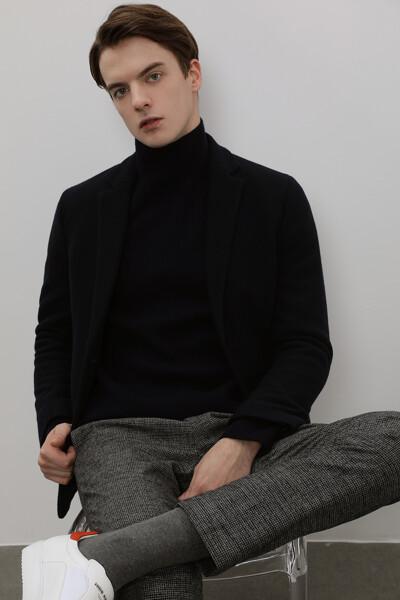 남성 울혼방 스탠다드핏 베이직 자켓