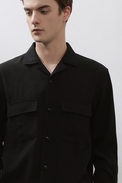 남성 포켓 긴소매 셔츠