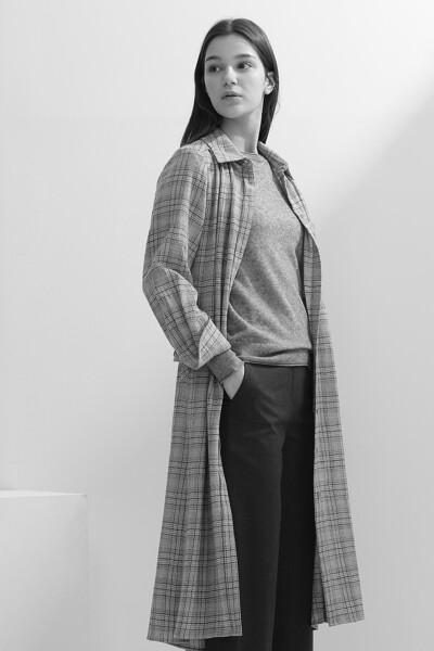[여성] 울 마드라스체크  원피스