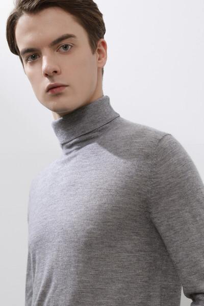 [남성] 캐시미어 솔리드 터틀넥 스웨터