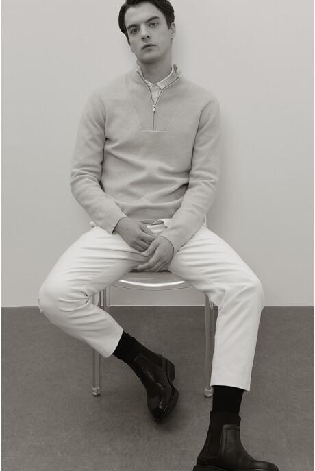 [남성] 울 레귤러핏 솔리드 니트 탑