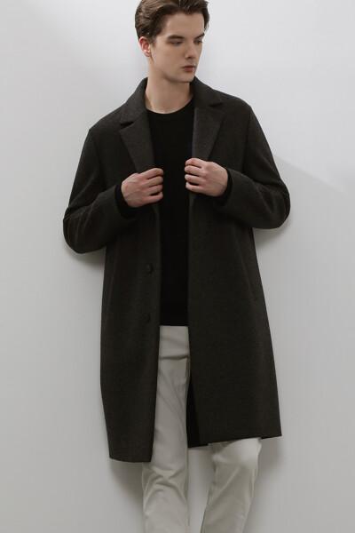 [남성] 울 솔리드  코트