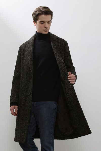 [남성] 울혼방 헤링본  코트