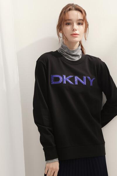 [여성] 면혼방 스팽글 크루넥 스웻 셔츠