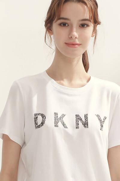 [여성] 면혼방 크루넥 반소매 티셔츠