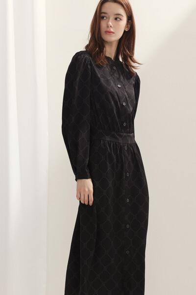 [여성] 프린팅 셔츠 원피스