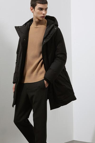 [남성] 모던 포켓 후드 다운 코트