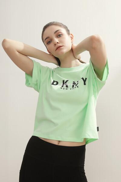 로고 프린트 반팔 티셔츠