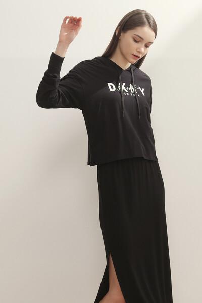 로고 프린트 후드 티셔츠