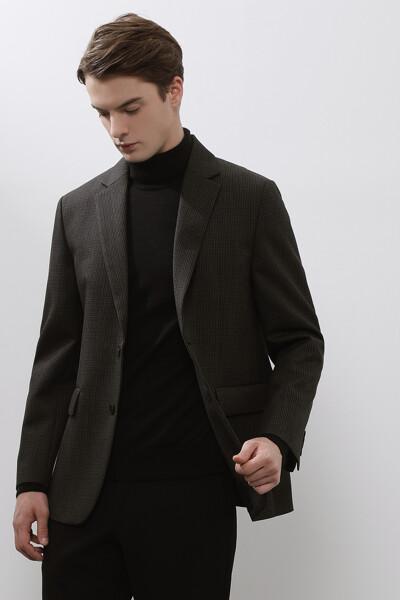 [남성] 울 스탠다드핏 핀체크 자켓