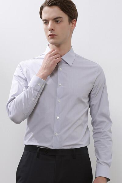 [남성] 면혼방 레귤러핏 체크 드레스 셔츠