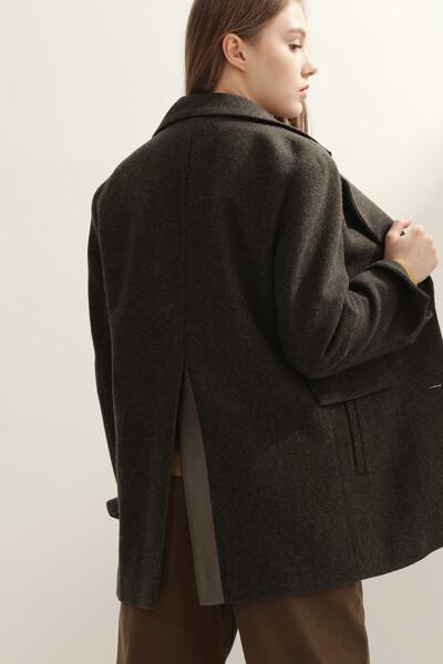 [여성] 울혼방 박시핏 헤링본 자켓