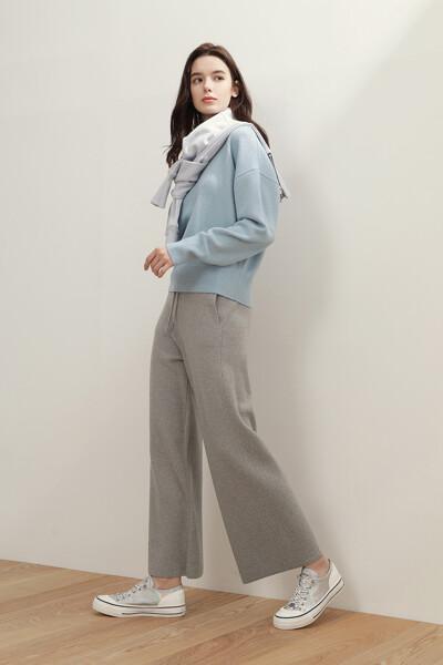 [여성] 와이드 스웨터 팬츠