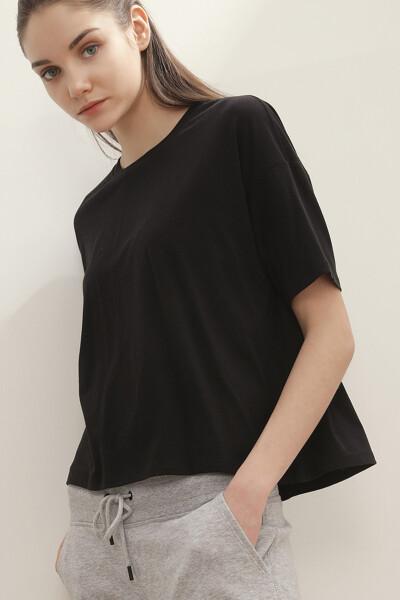 져지 솔리드 반팔 티셔츠