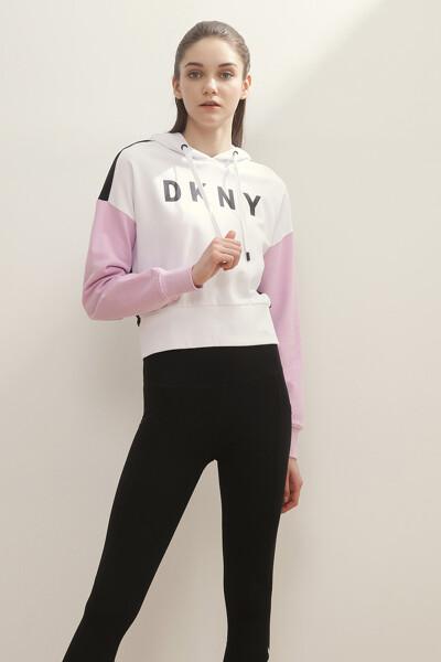 테리 컬러블록 후드 티셔츠