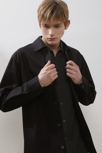 코튼 스탠다드핏 아웃포켓 셔츠