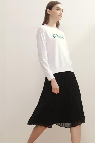 프렌치 테리 스팽글 로고 스웨트셔츠