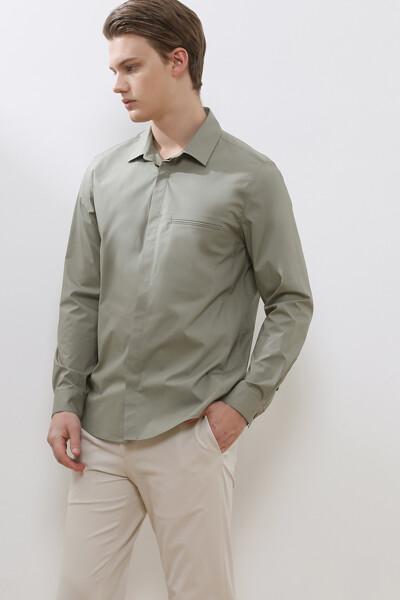 모던 포켓 셔츠