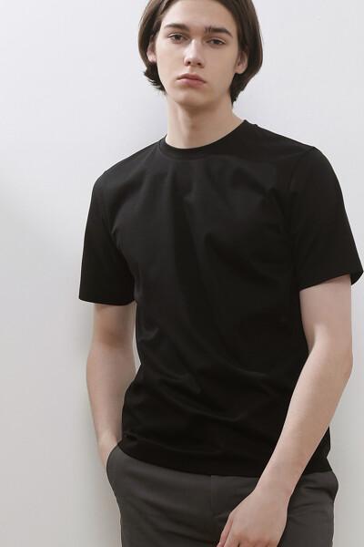럭셔리 코튼 크루넥 티셔츠