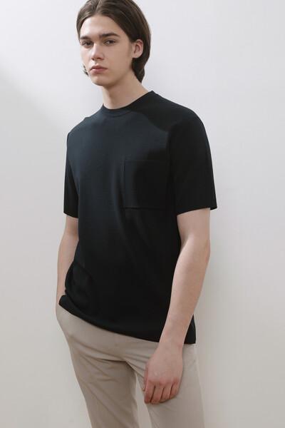 포켓 크루넥 티셔츠