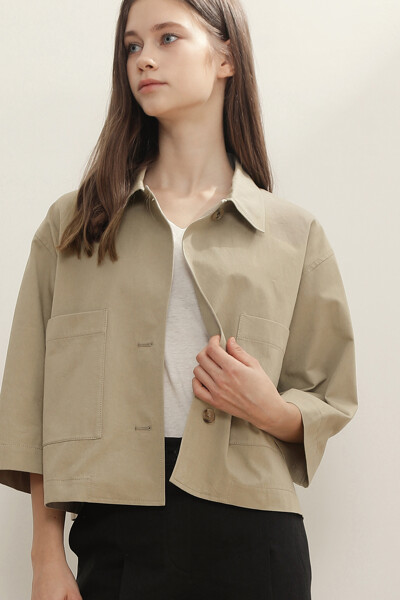 솔리드 셔츠 자켓