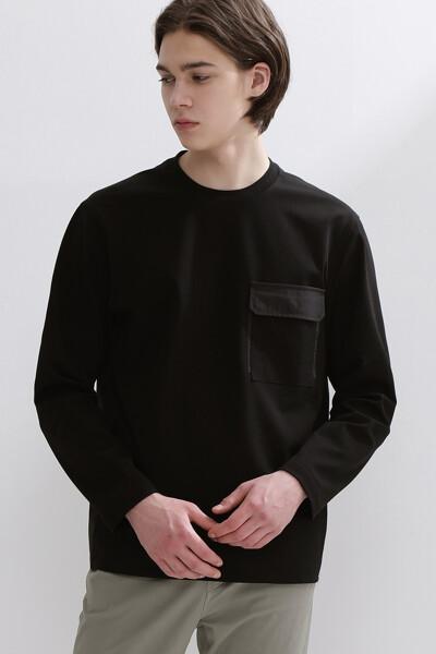 아웃포켓 크루넥 스웨트셔츠