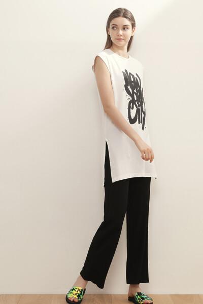 프린트 롱 티셔츠
