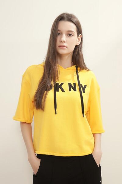 테리 로고 후드 티셔츠
