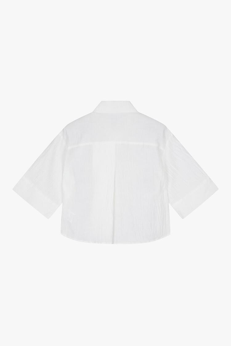 크롭 슬릿 셔츠