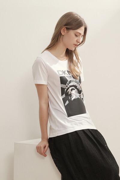 그래픽 프린트 반팔 티셔츠