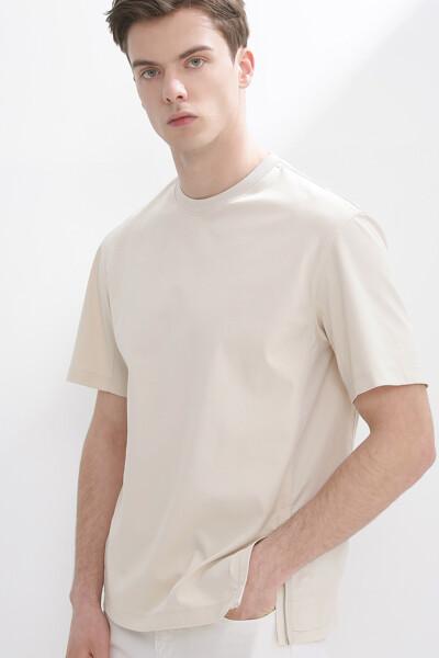 슬릿 집업 크루넥 티셔츠