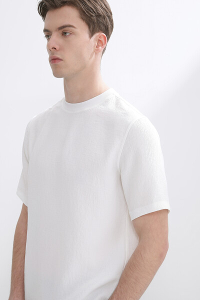 크링클 크루넥 티셔츠