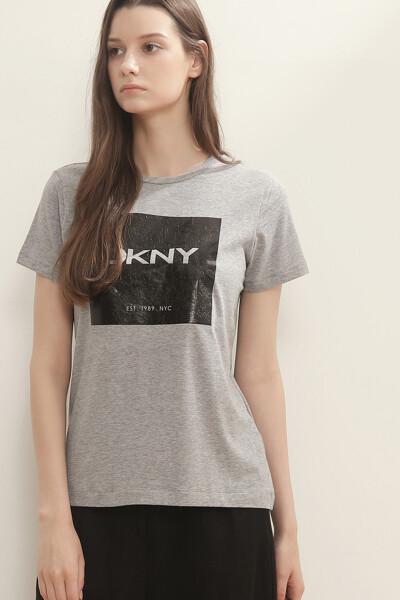 스퀘어 프린트 저지 티셔츠