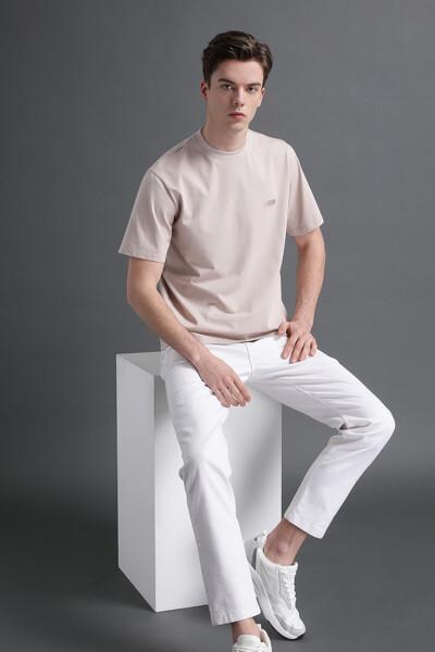 로고 프린트 숏 슬리브 티셔츠