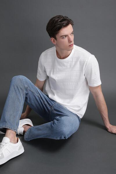 베이직 슬럽 크루넥 티셔츠