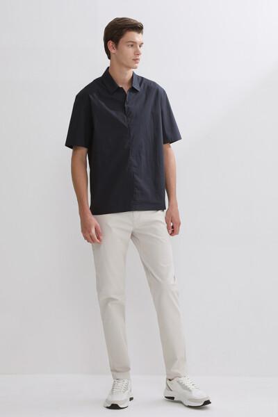 숏 슬리브 튜닉 셔츠