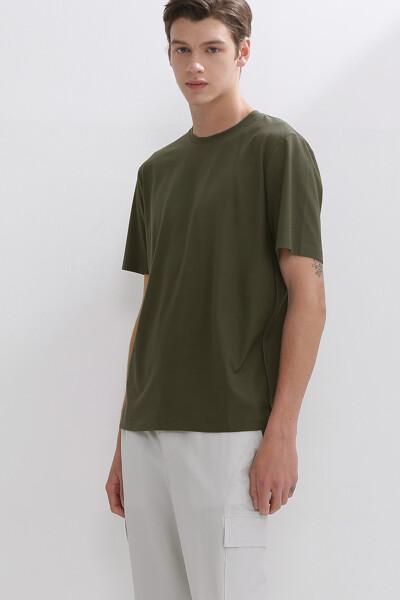 스퀘어 패널 숏 슬리브 티셔츠