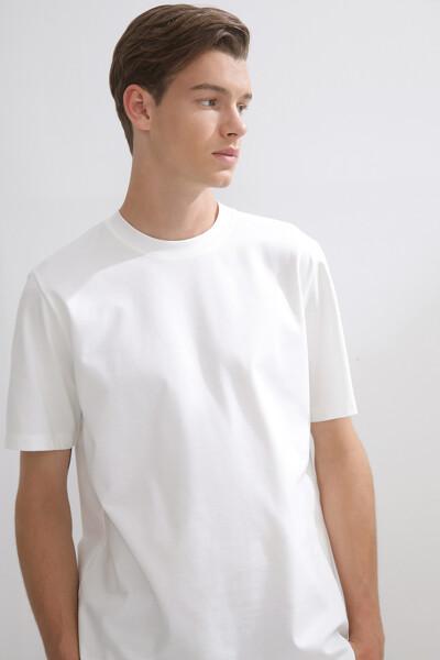 럭셔리 코튼 숏 슬리브 티셔츠