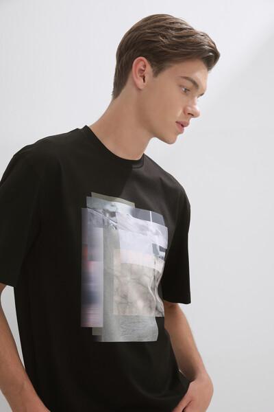 그래픽 크루넥 숏 슬리브 티셔츠