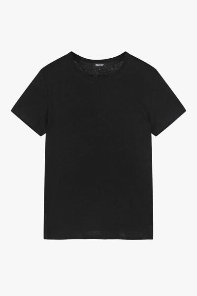 하프 슬리브 린넨 티셔츠