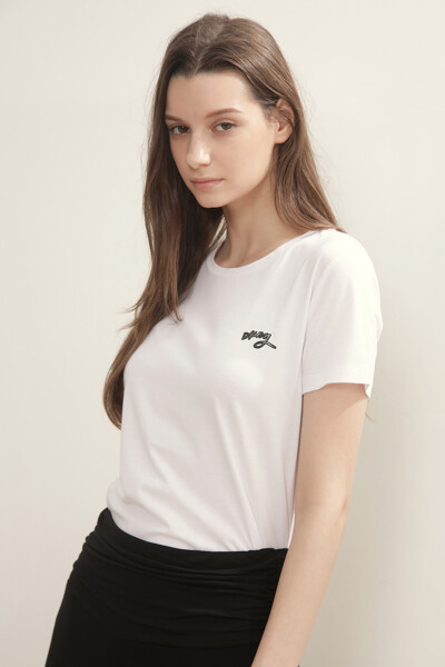 미니 로고 라운드넥 티셔츠