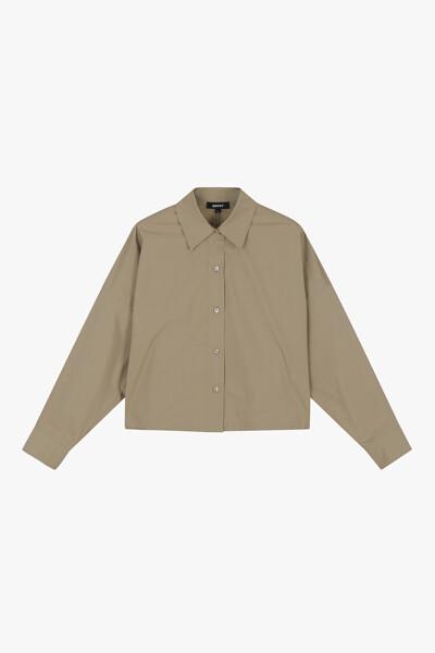 면 혼방 숏 셔츠