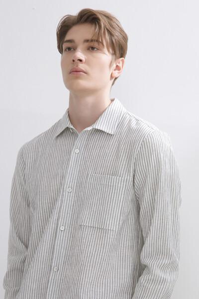 시어서커 스트라이프 셔츠