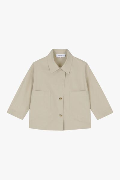 *솔리드 셔츠 자켓