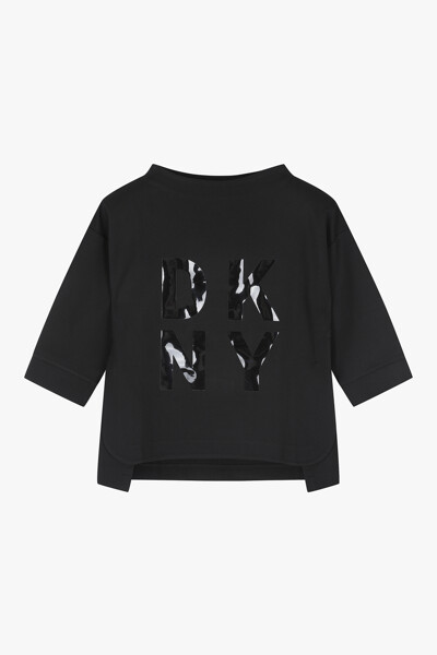 스판덱스 로고 반소매 티셔츠